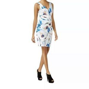 Guess Sleeveless V-Neck Floral Dress Size XL
